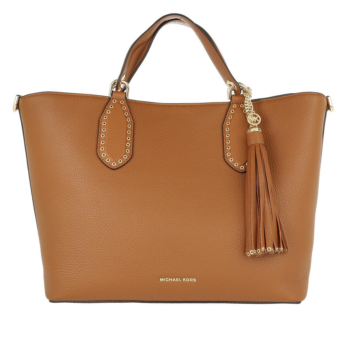 2dda75ef5a6a Michael Kors Brooklyn Large Grab Bag Luggage in Brown - Lyst