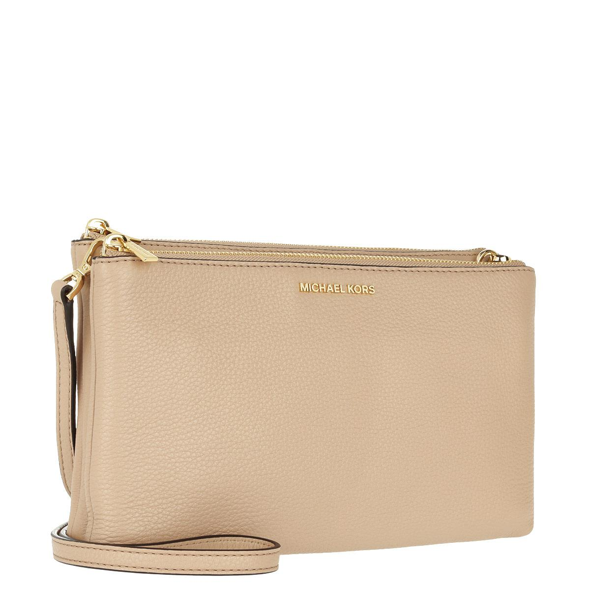 ce5cc1b2d221 Michael Michael Kors Adele Double Zip Crossbody Oyster in Natural - Lyst