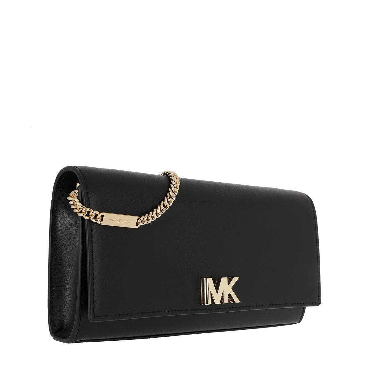 Michael Kors Leather Mott Lg Ew Clutch Black