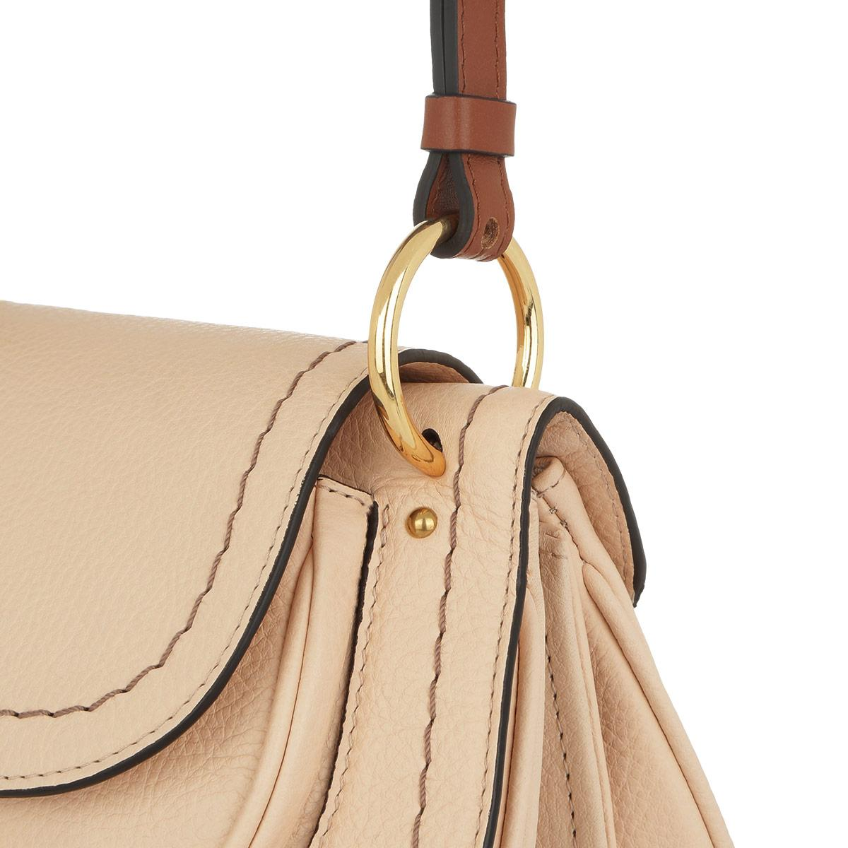 See By Chloé Leather Susie Small Crossbody Bag Nude in Natural