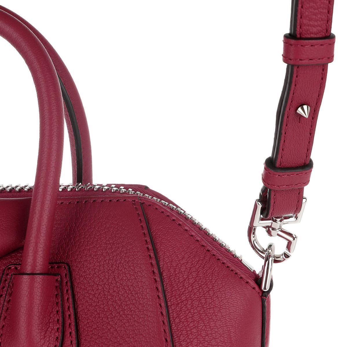 antigona mini borse pink fig givenchy Fd7wOF