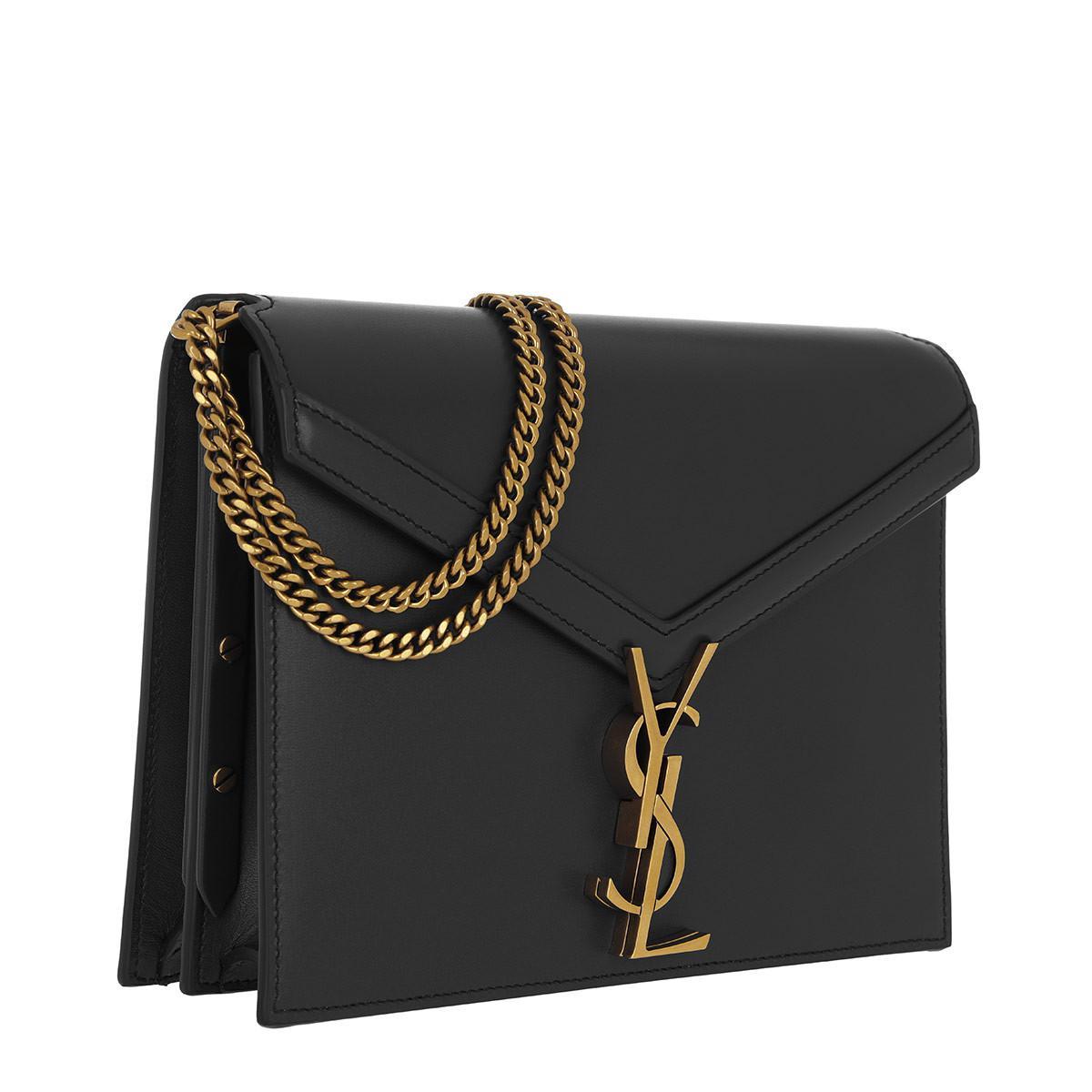 Saint Laurent - Cassandra Monogramme Chain Bag Leather Black - Lyst. View  fullscreen 5bcb224ed0a84