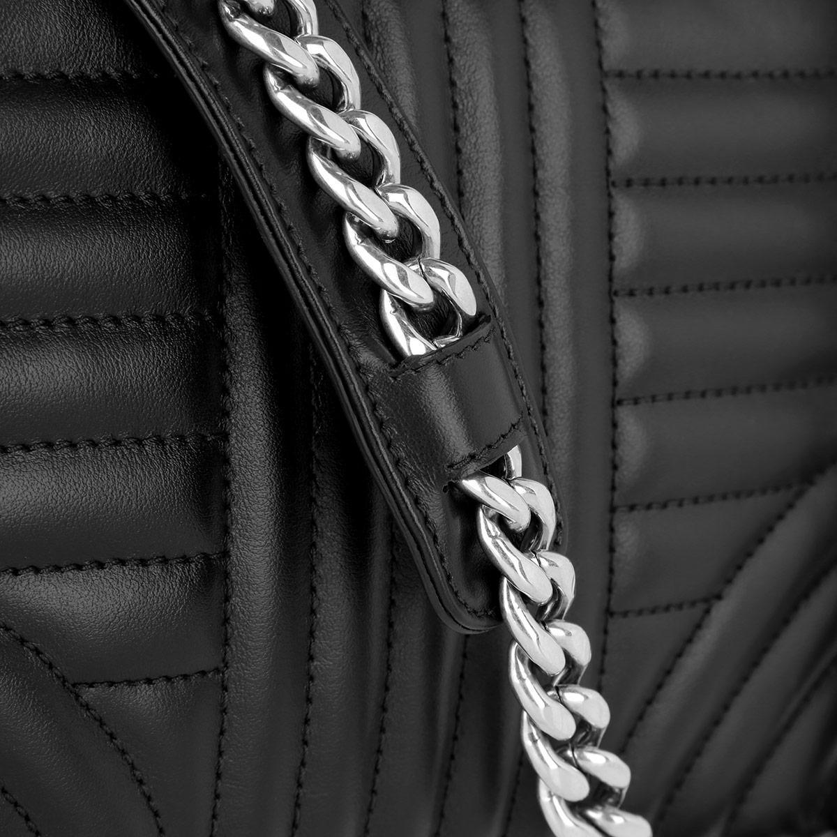 Prada Leather Soft Calf Impunture Crossbody Nero in Green Black (Black)