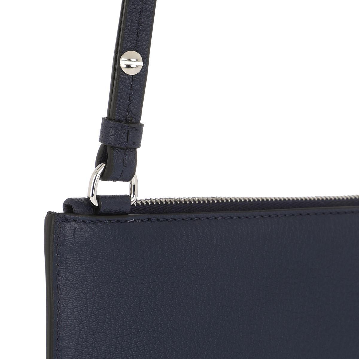 Givenchy Leather Slg Mini Crossbody Bag Night Blue