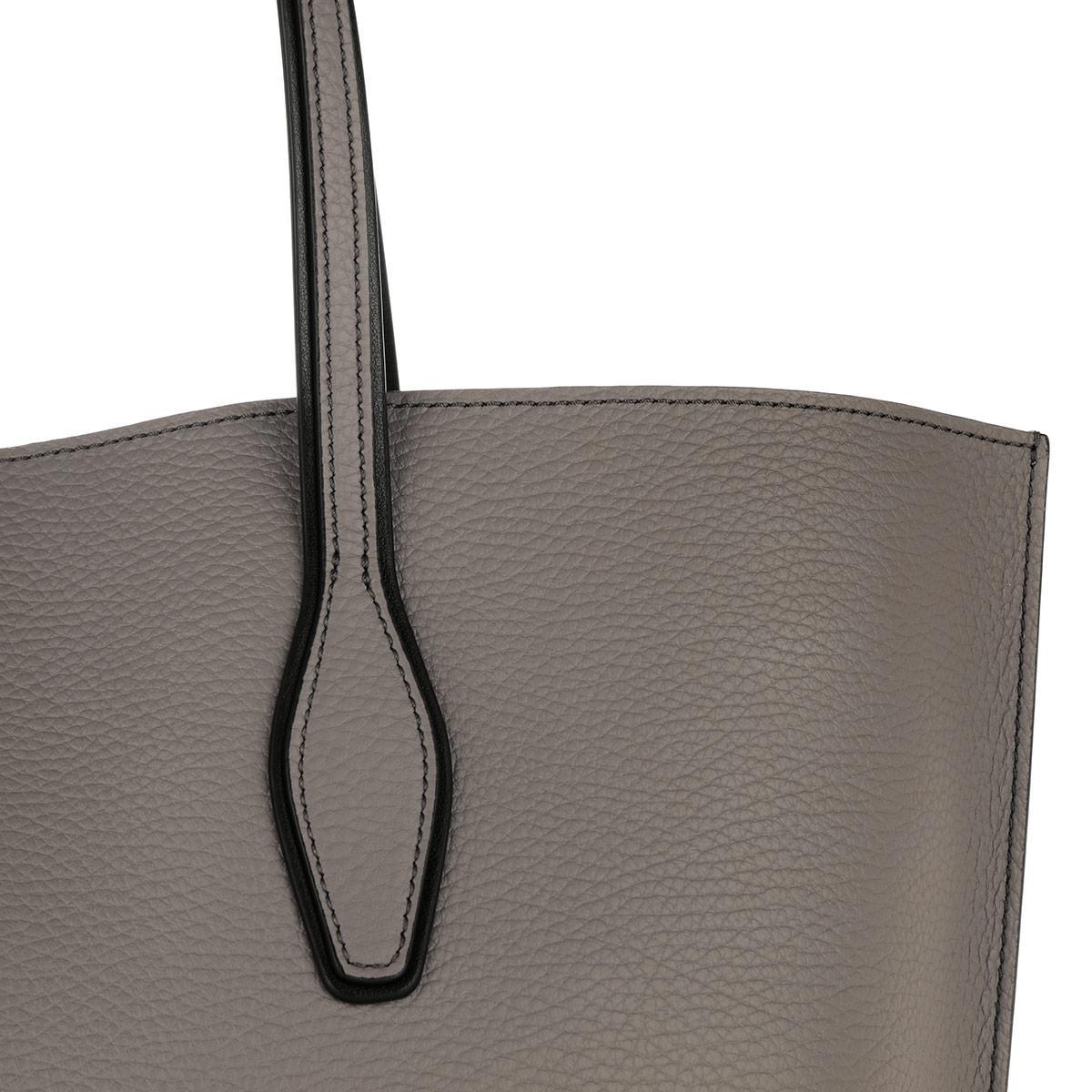 Tod's Leather Tote Joy Shopping Medium Elephant Grey in Grey