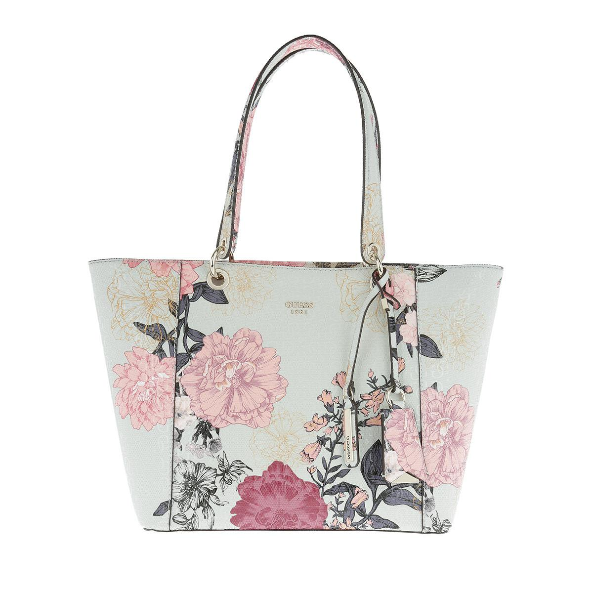 05a784a37868 Guess Kamryn Tote Grey Floral in Gray - Lyst