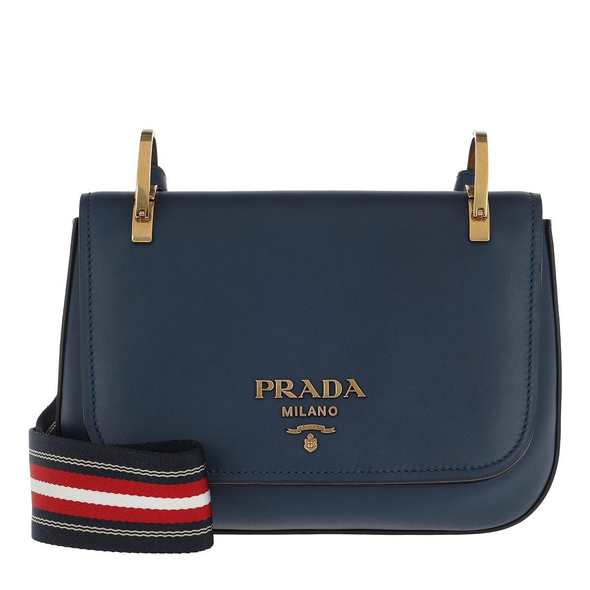 e1fc549fcb ... authentic prada pionniere bag leather royal blue lyst. view fullscreen  1c508 889ac
