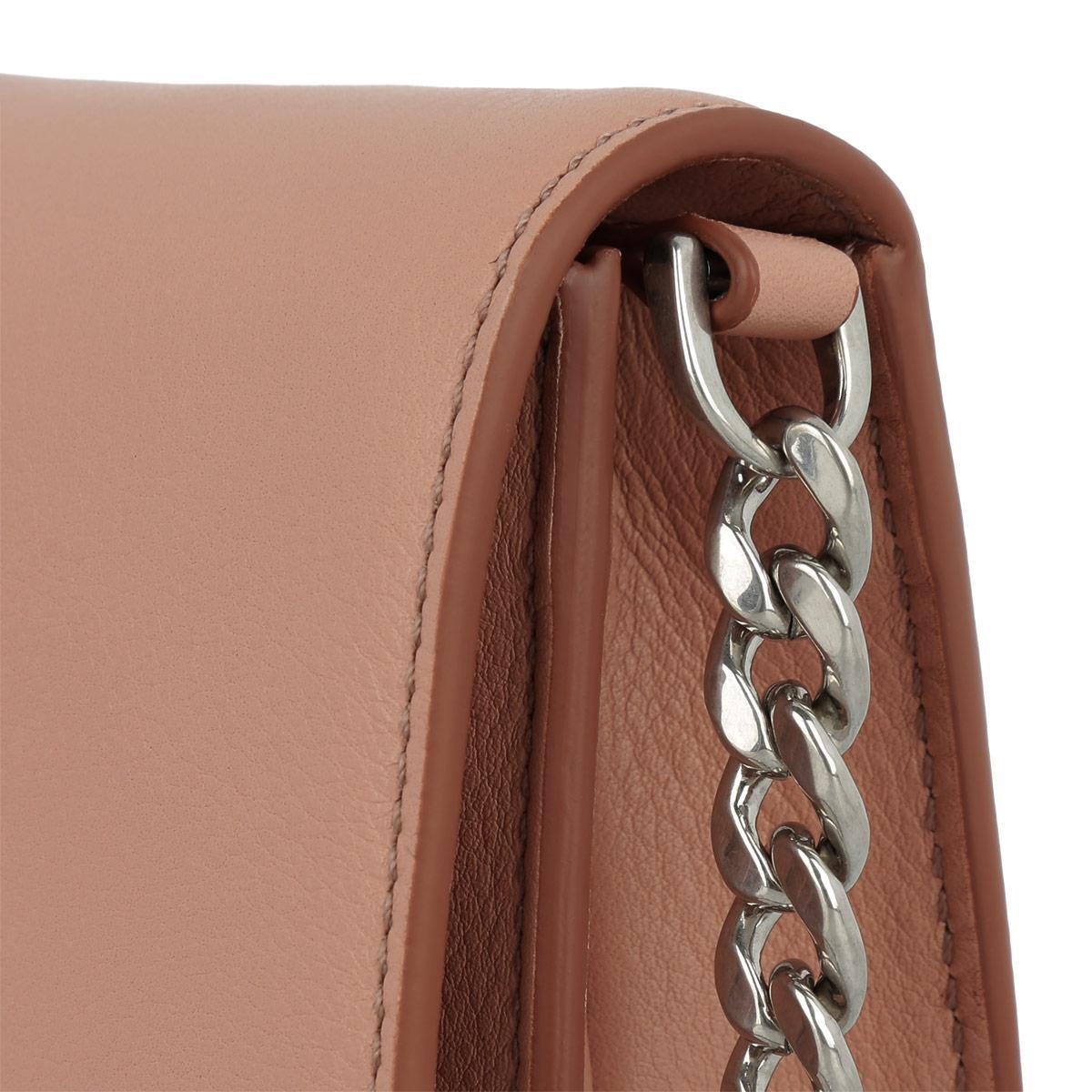 Tod's Leather Double T Micro Crossbody Bag Calfskin Peach