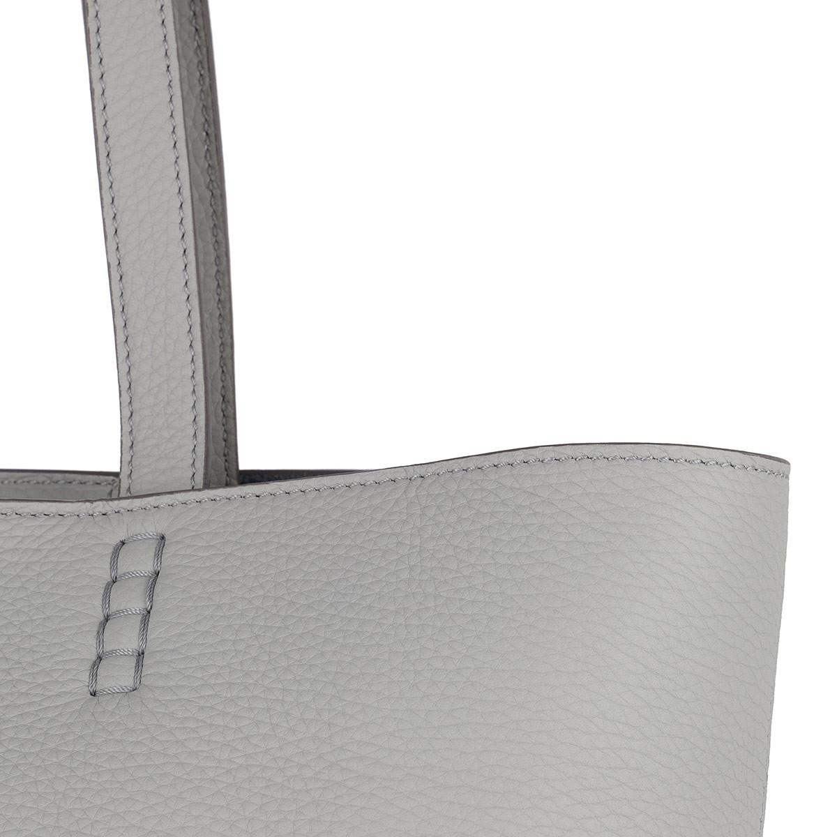 Tod's Leather Satchel Wave New Tote Soft Gommini Grigio in Grey (Grey)