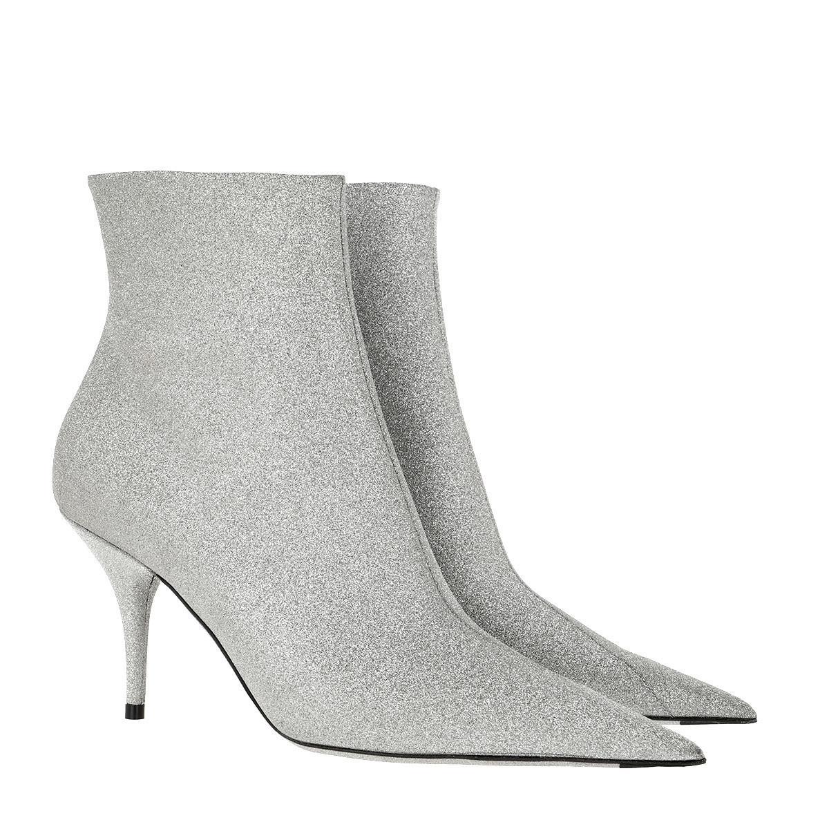 Glitter Ankle Boot Silver in Metallic