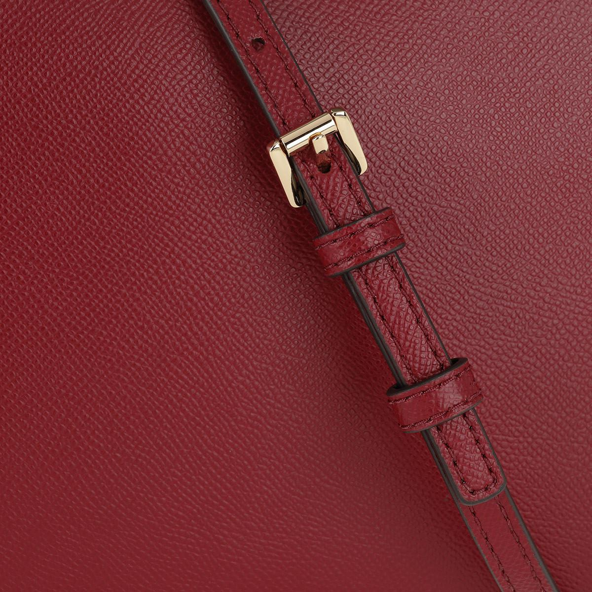 Michael Kors Leather Lg Ew Crossbody Bag Maroon in Red