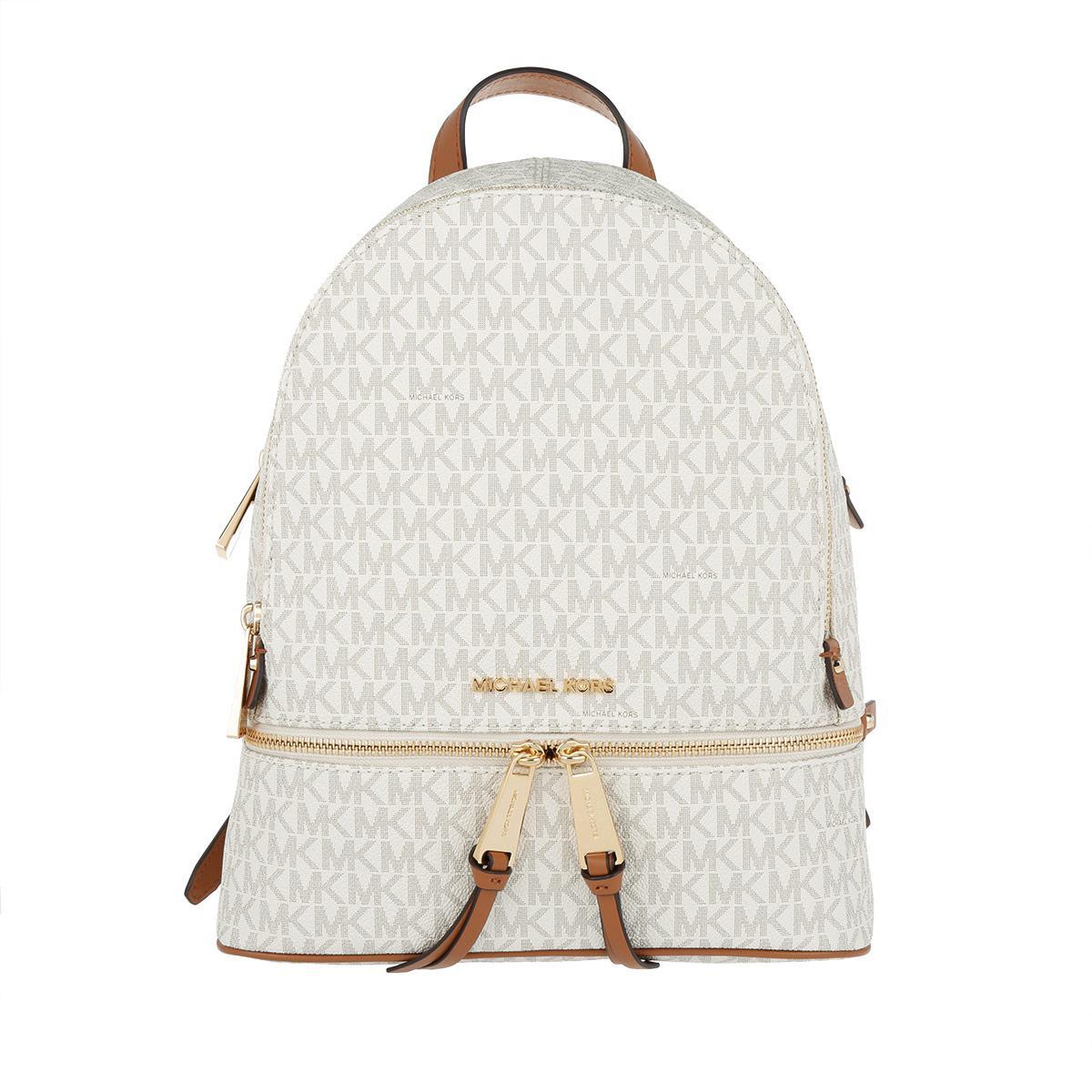 4eba86b3450df Michael Kors Rhea Zip Md Backpack Vanilla in White - Lyst