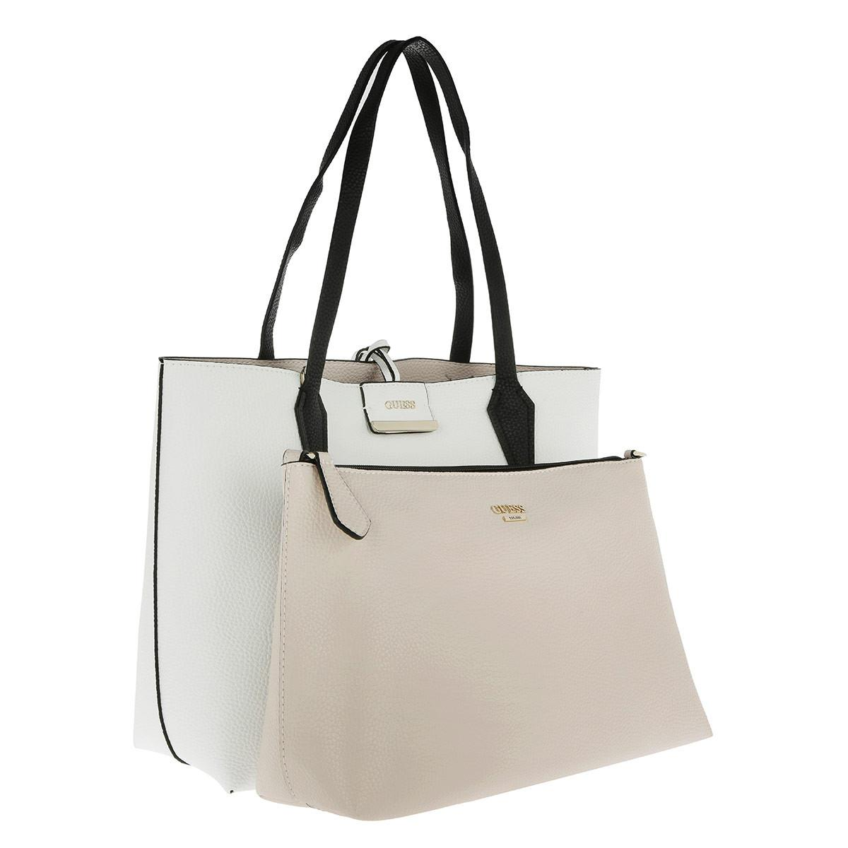 Multitaupe Tote Inside Guess Lyst In White Out Bobbi wCnPqpa