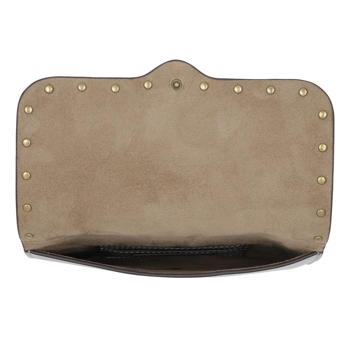 Rebecca Minkoff Leather Ring Crossbody Taupe