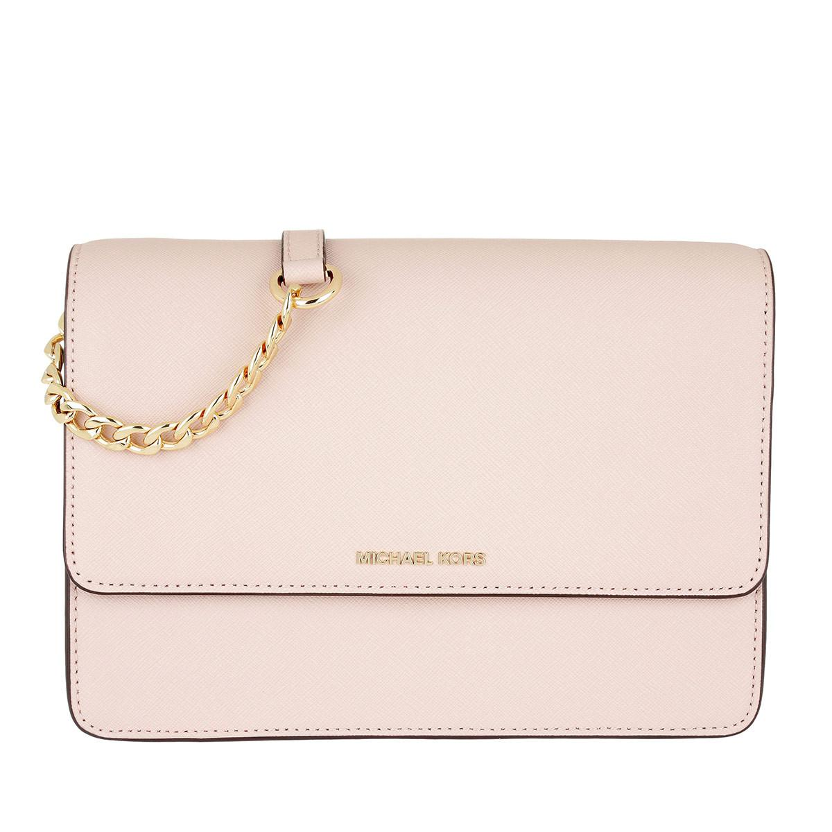 d0a17415e9a7 Michael Kors Daniela Large Crossbody Leather Soft Pink in Pink - Lyst