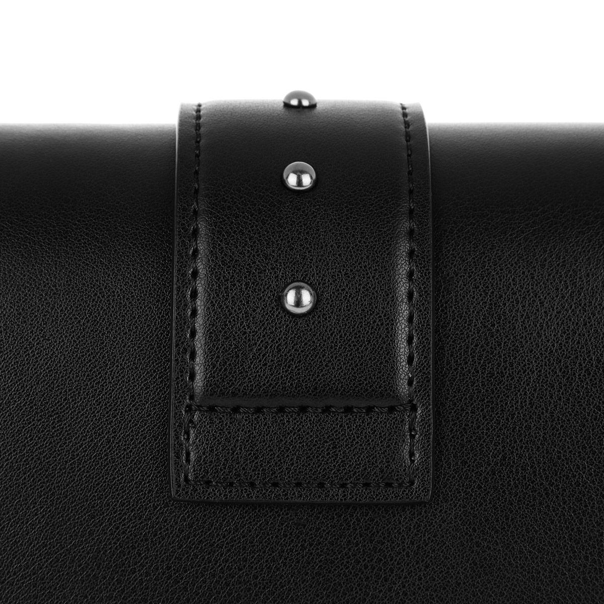 Pinko Leather Love Simply Cross Body Bag Black