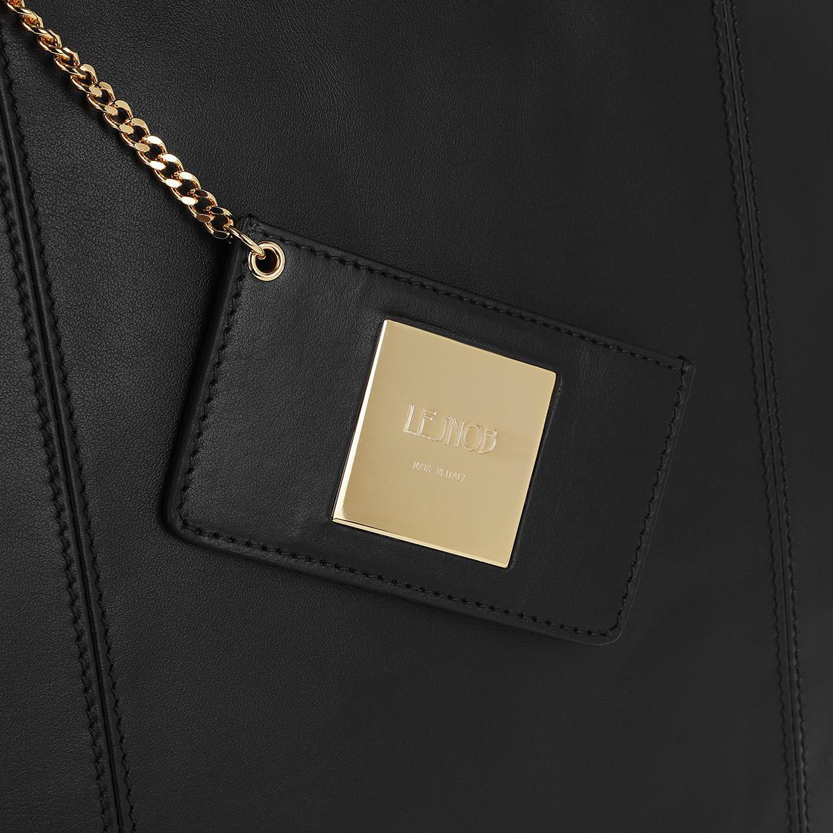 Le Snob Leather Le Tote Small Black