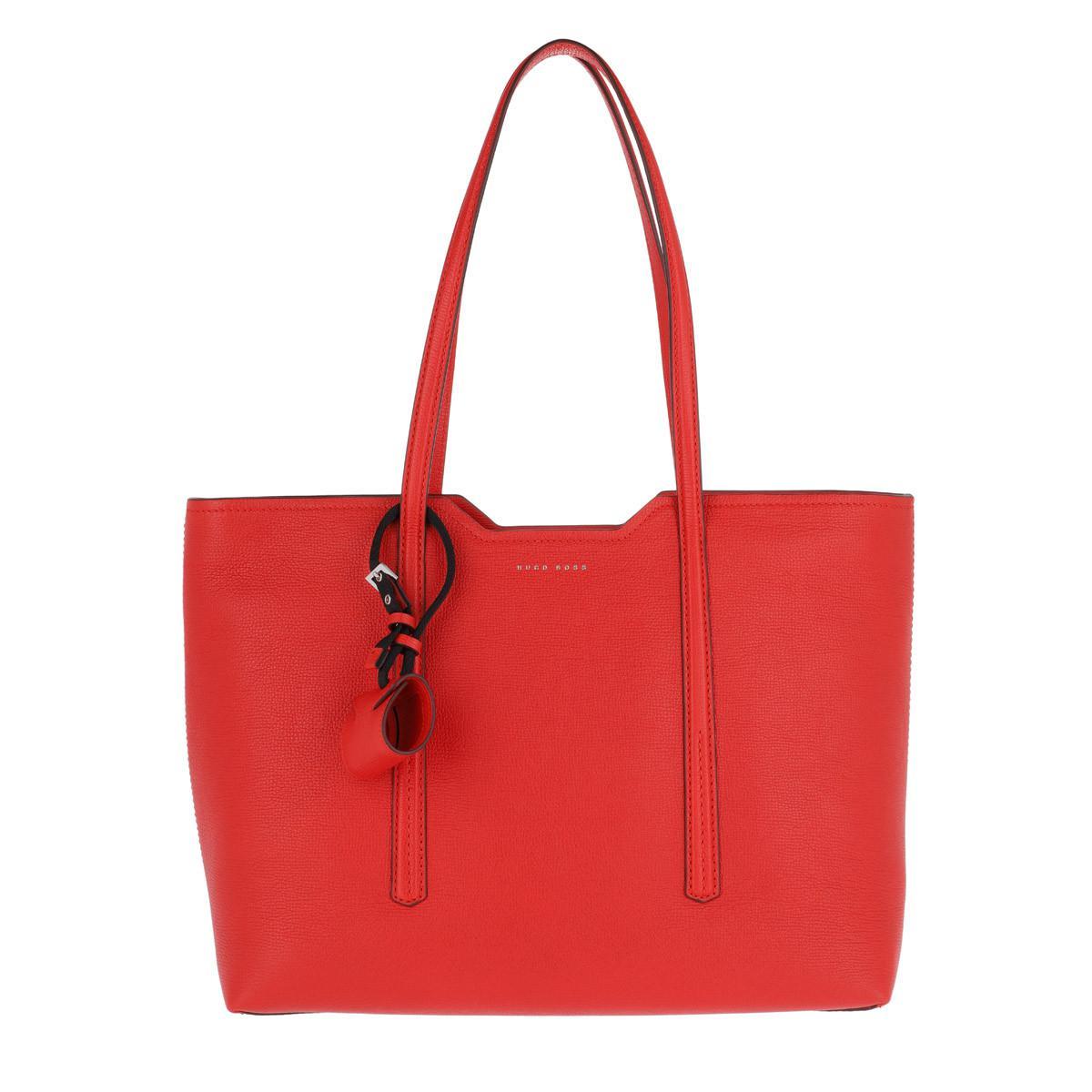 Hugo Boss Taylor Sac Shopper En Cuir De Veau Granuleuse Rouge Foncé iPdPiMpMGE