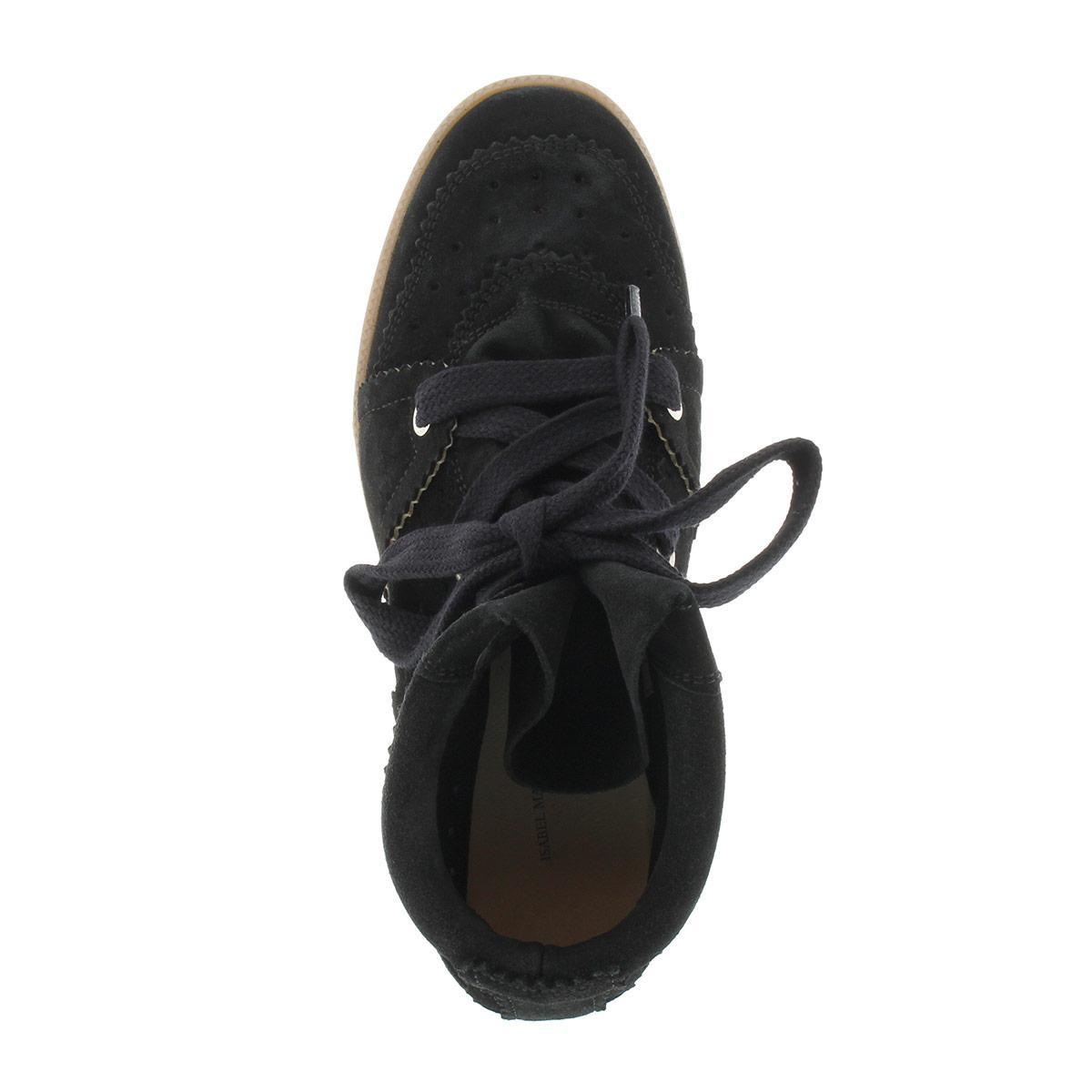 Isabel Marant Bobby Sneaker Velvet Stainer Basket Faded Black