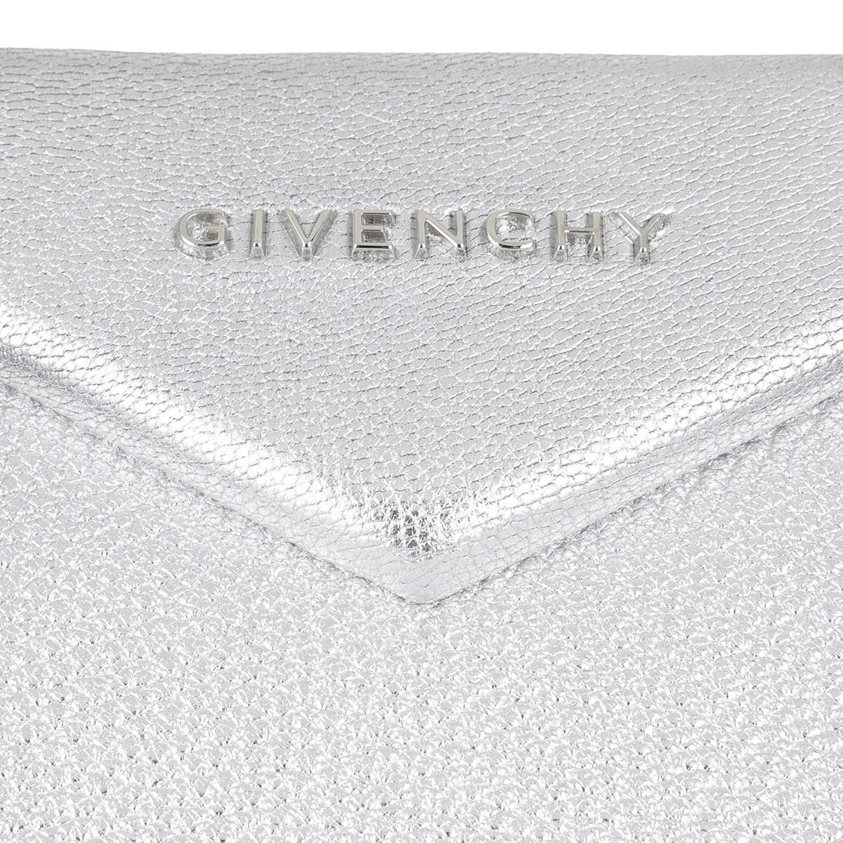 Givenchy Cotton Antigona Medium Tote Bag Silver in Metallic