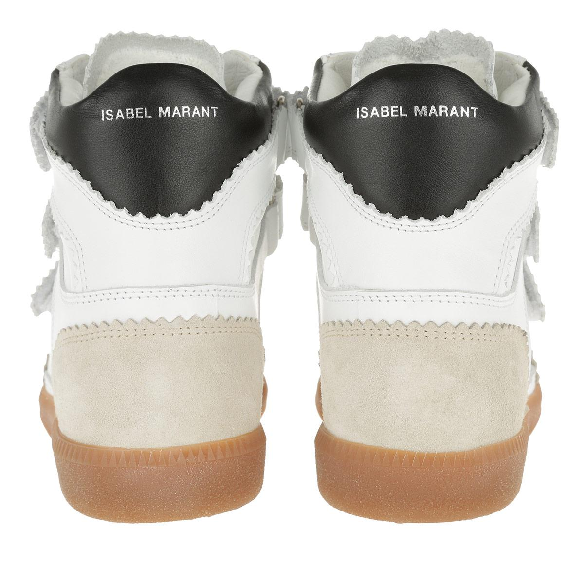 Étoile Isabel Marant Leather Bilsy Vintage Sneakers White