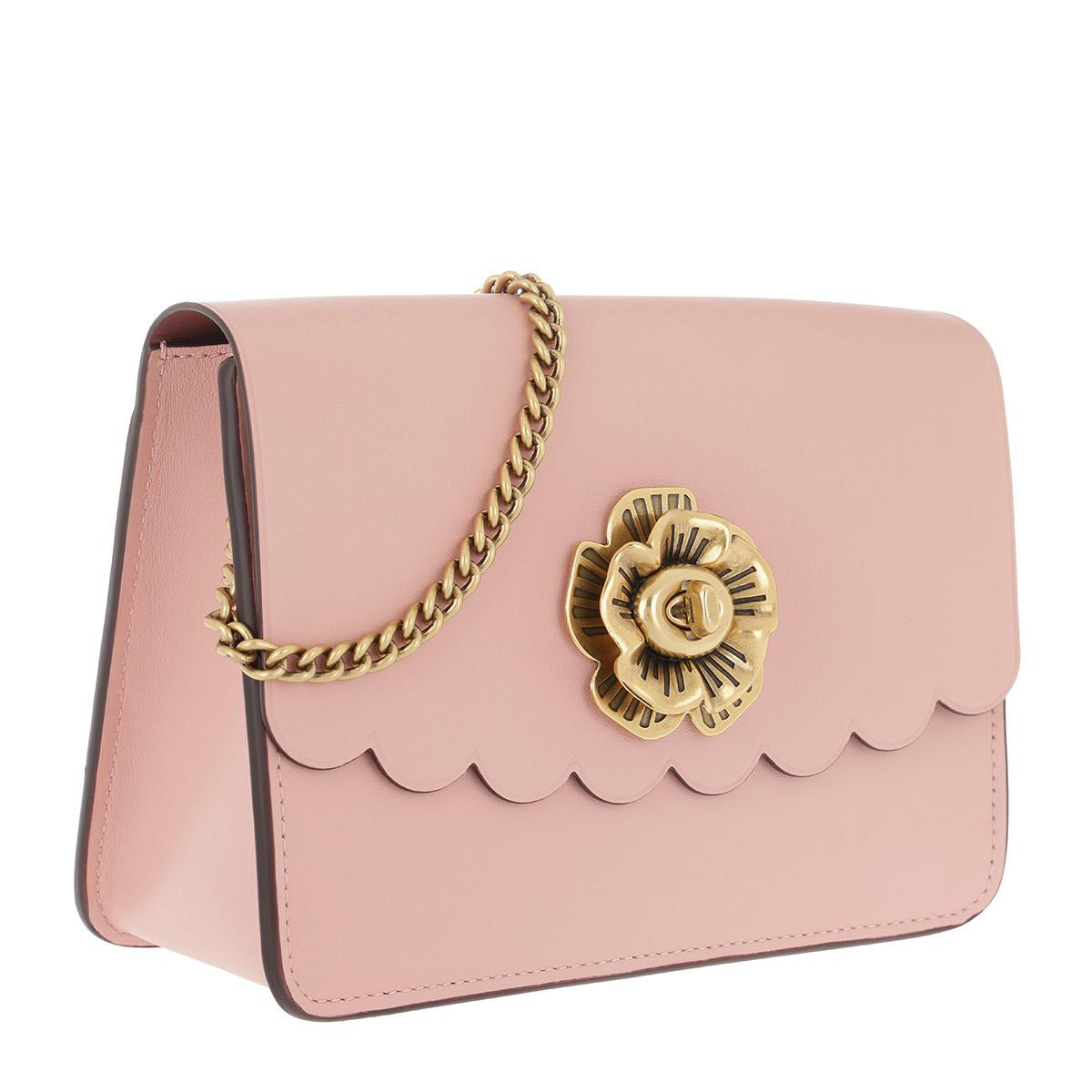 565207d11fb46 discount coach tea rose turnlock bowery crossbody peony in pink lyst 4218f  d5731