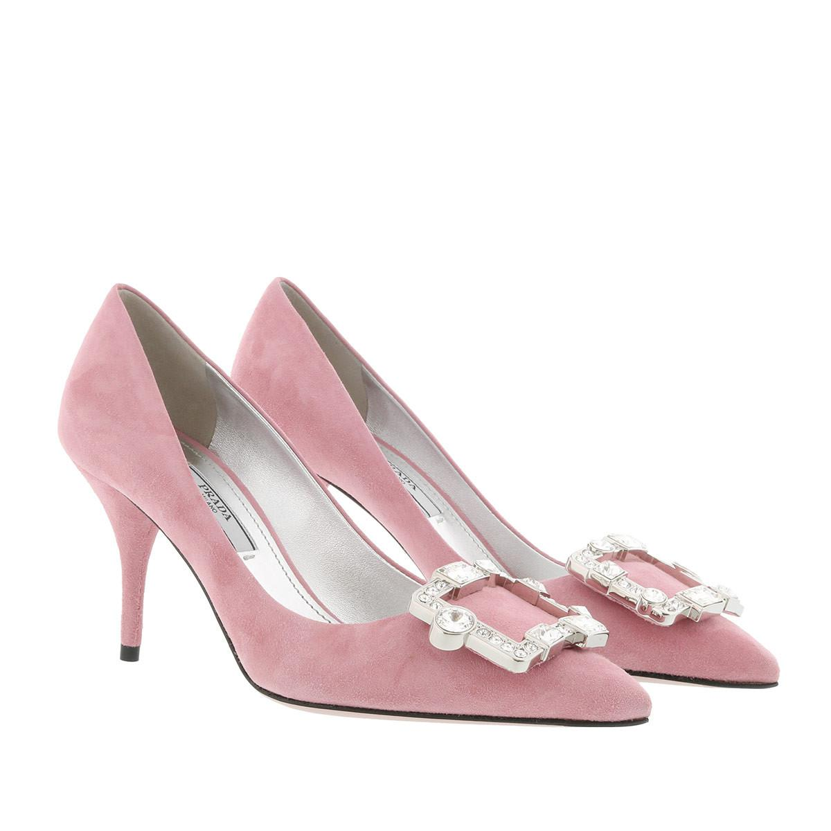 Best Cheap Price Pumps - Crystal Buckle Mules Leather Loto - rose - Pumps for ladies Prada Nicekicks Online Cheap Sale Good Selling How Much Outlet Countdown Package WitrOwh