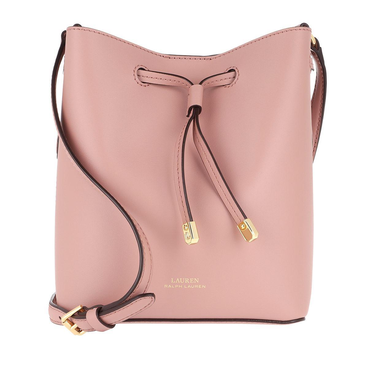 b59994f5d92c Lauren by Ralph Lauren Dryden Drawstring Bag Smooth Leather Rose ...