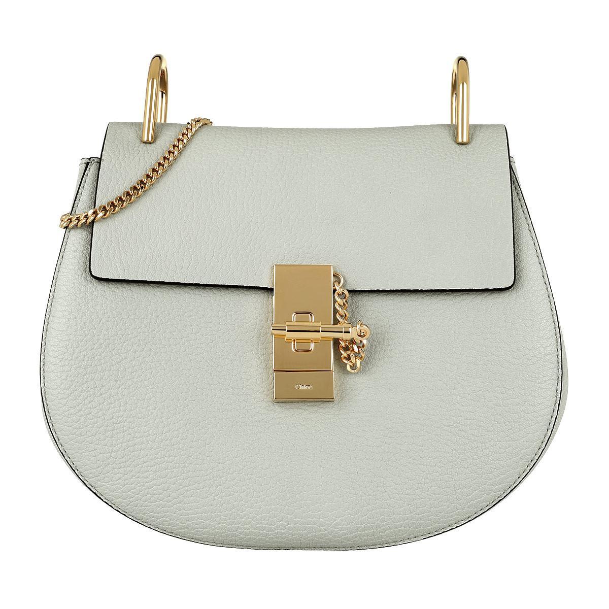 a4c33339 Chloé Drew Shoulder Bag Small Grain Lambskin Airy Grey in Gray - Lyst