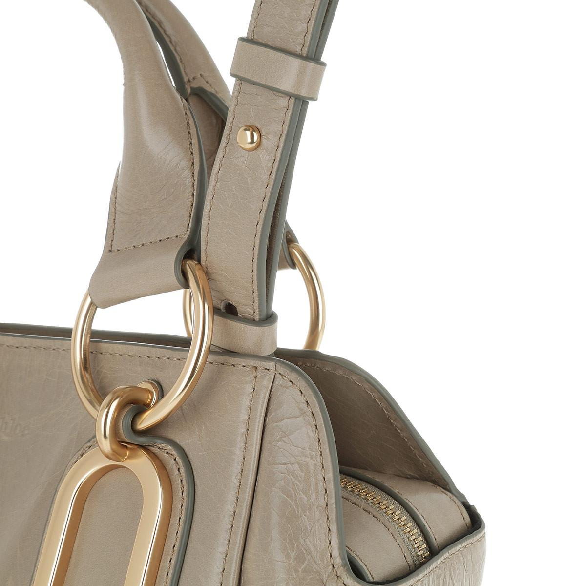 See By Chloé Canvas Paige Crossbody Bag Small Motty Grey in Grey