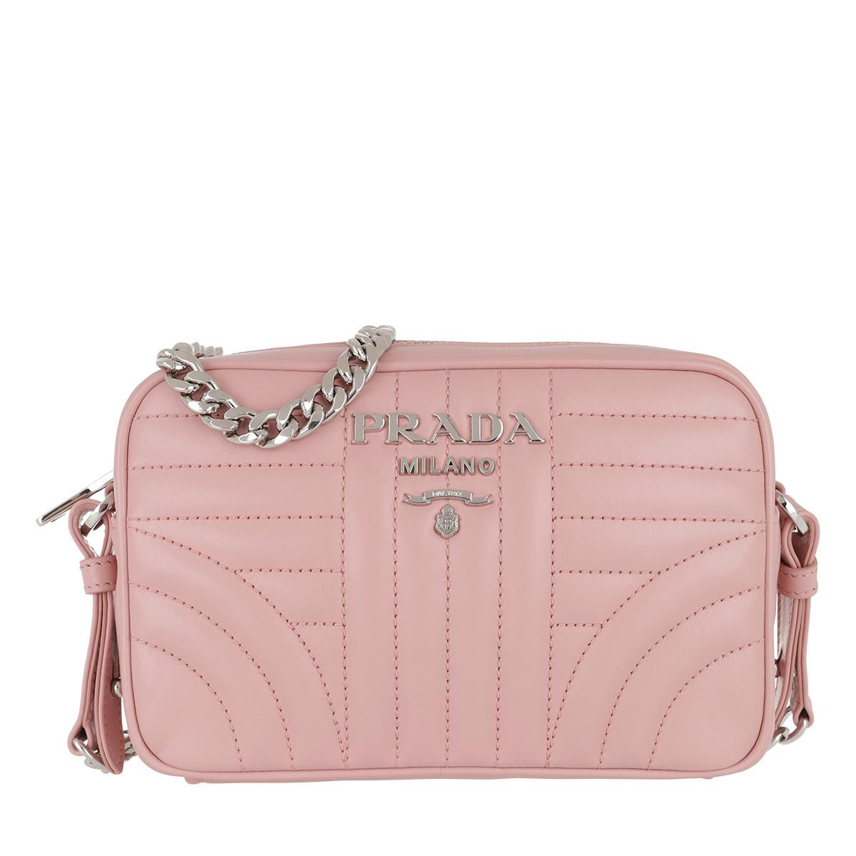 81d0762dc563 Prada Diagramme Crossbody Bag Leather Pesco in Pink - Lyst