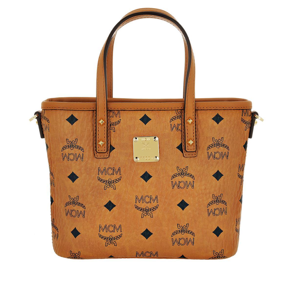 fullscreen Cognac MCM Shopper Brown Lyst Zip Mini View Top Anya 1C6SCqwp