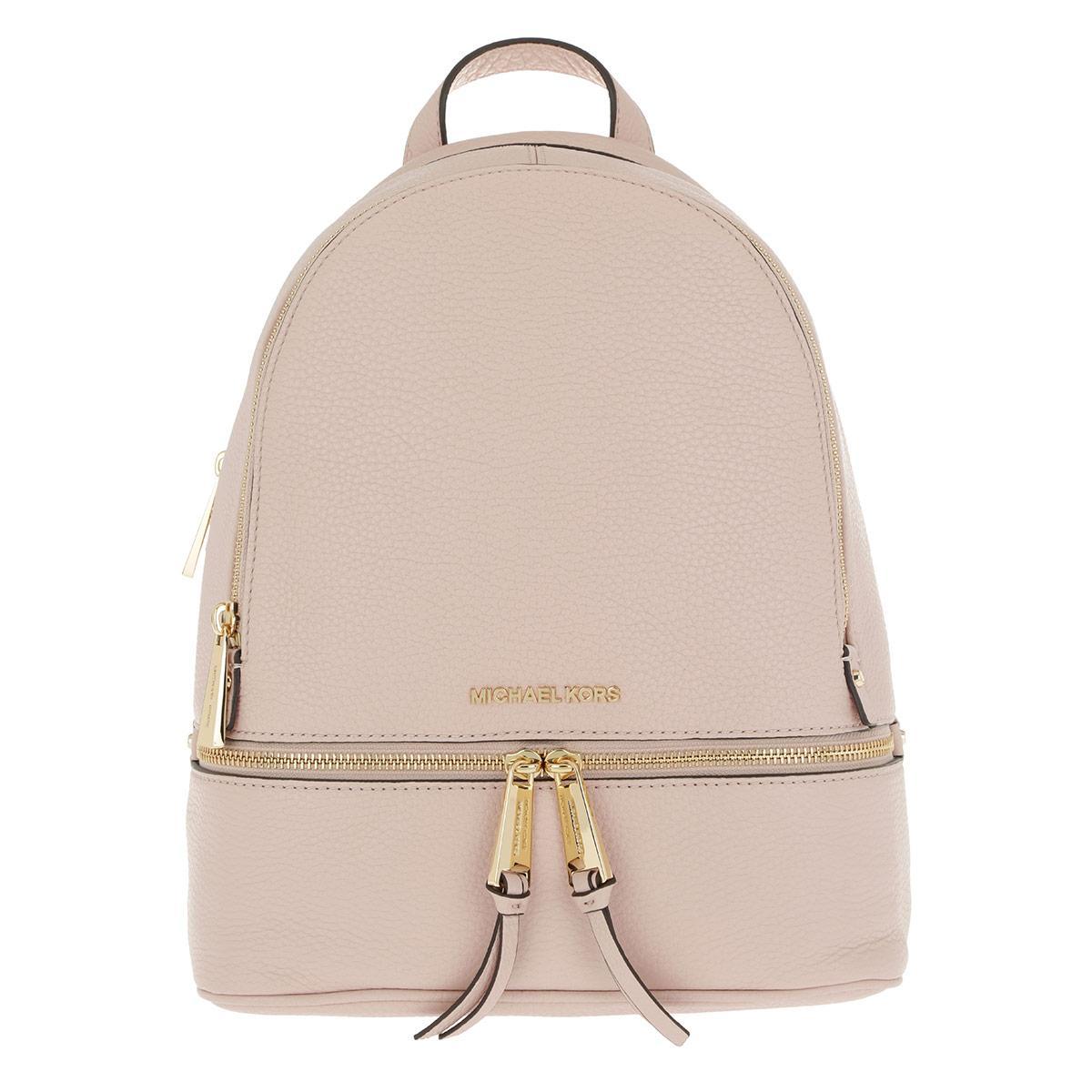 ce3733205597 Michael Kors - Rhea Zip Medium Backpack Soft Pink - Lyst. View fullscreen