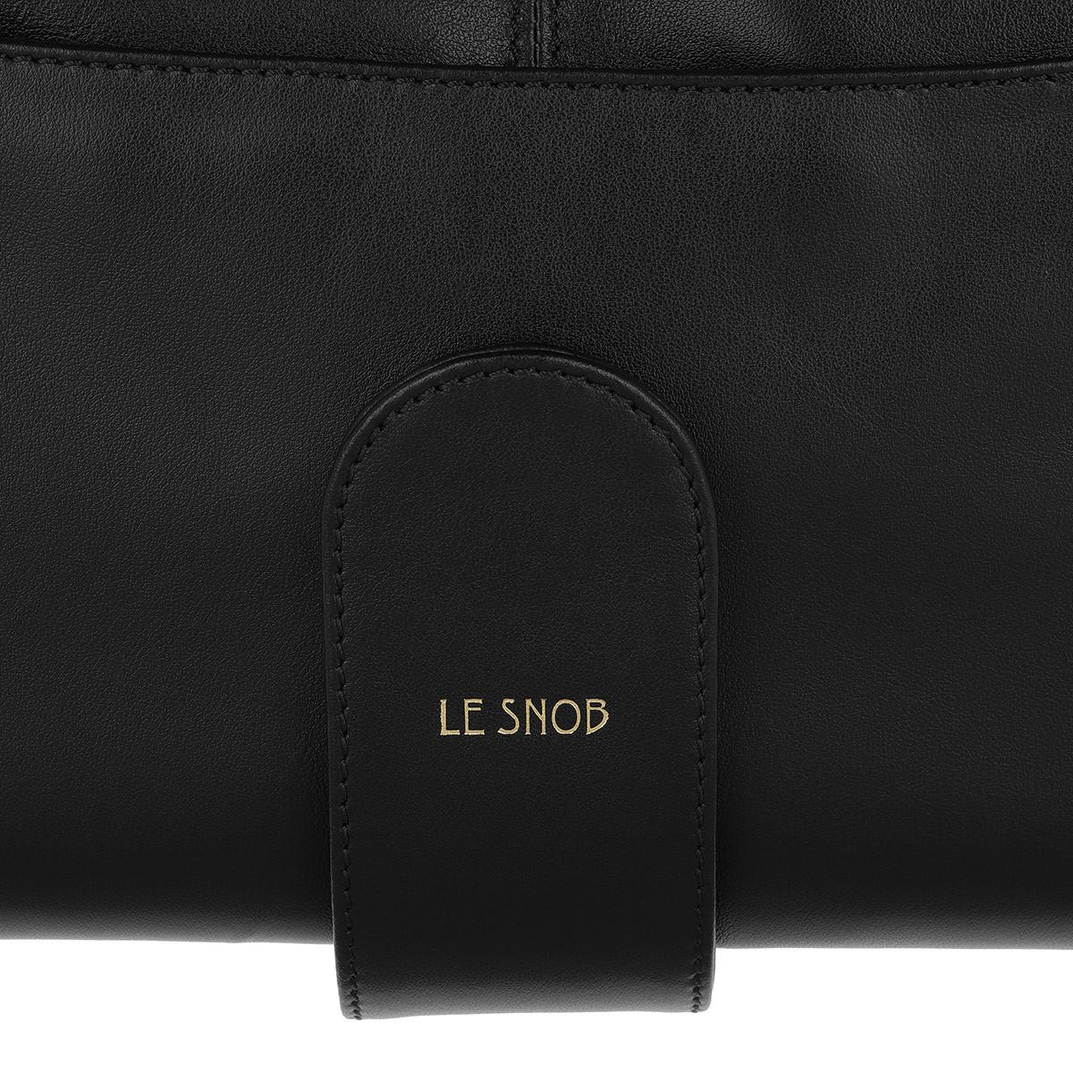 Le Snob Leather Le Clutch Tote 1 Black