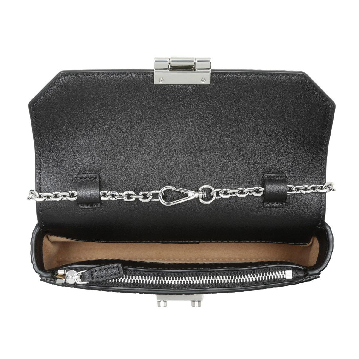 MCM Synthetic Millie Monogrammed Leather Crossbody Bag - in Black