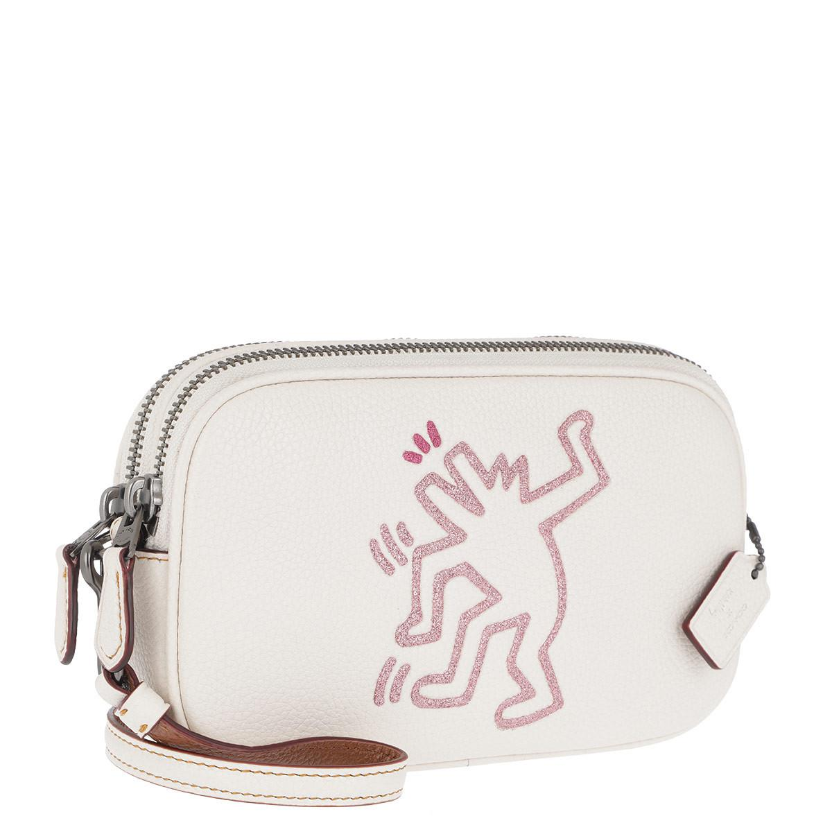 Cross Body Bags - Keith Haring Crossbody Bag Chalk - white - Cross Body Bags for ladies Coach