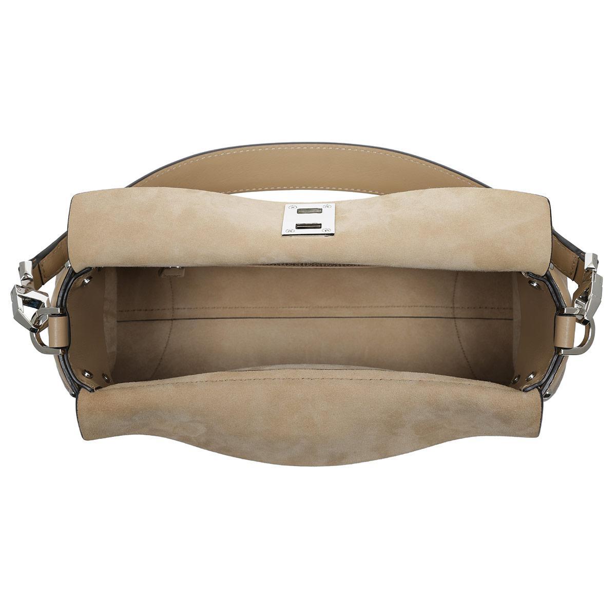 0a87a293e289 Michael Kors Miranda Md Top Lock Shoulder Bag Dune - Lyst