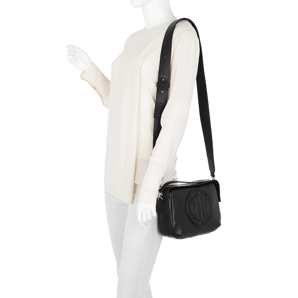 DKNY Leather Tilly Circa Crossbody Bag Black
