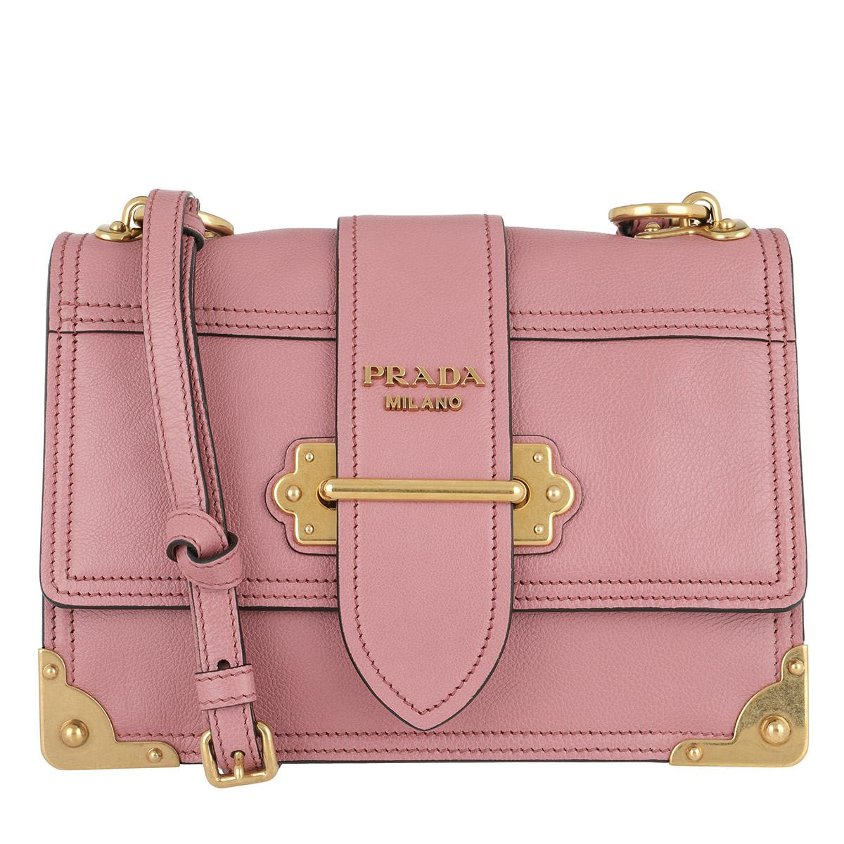 610df5588b3e Prada Glace Shoulder Bag Calf Leather Rose in Pink - Lyst