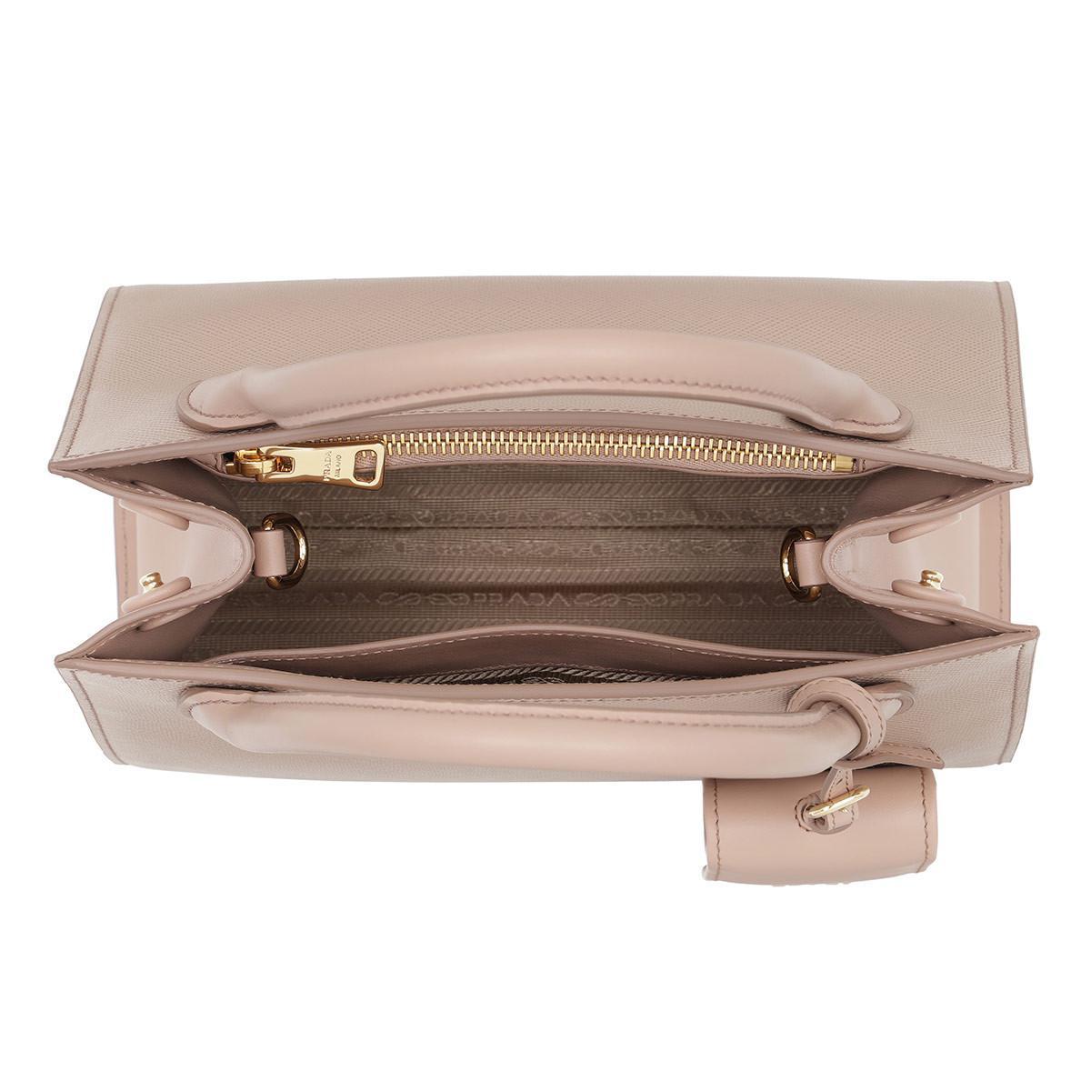 Prada Leather Monochrome Tote Bag Cipria in Beige (Natural)