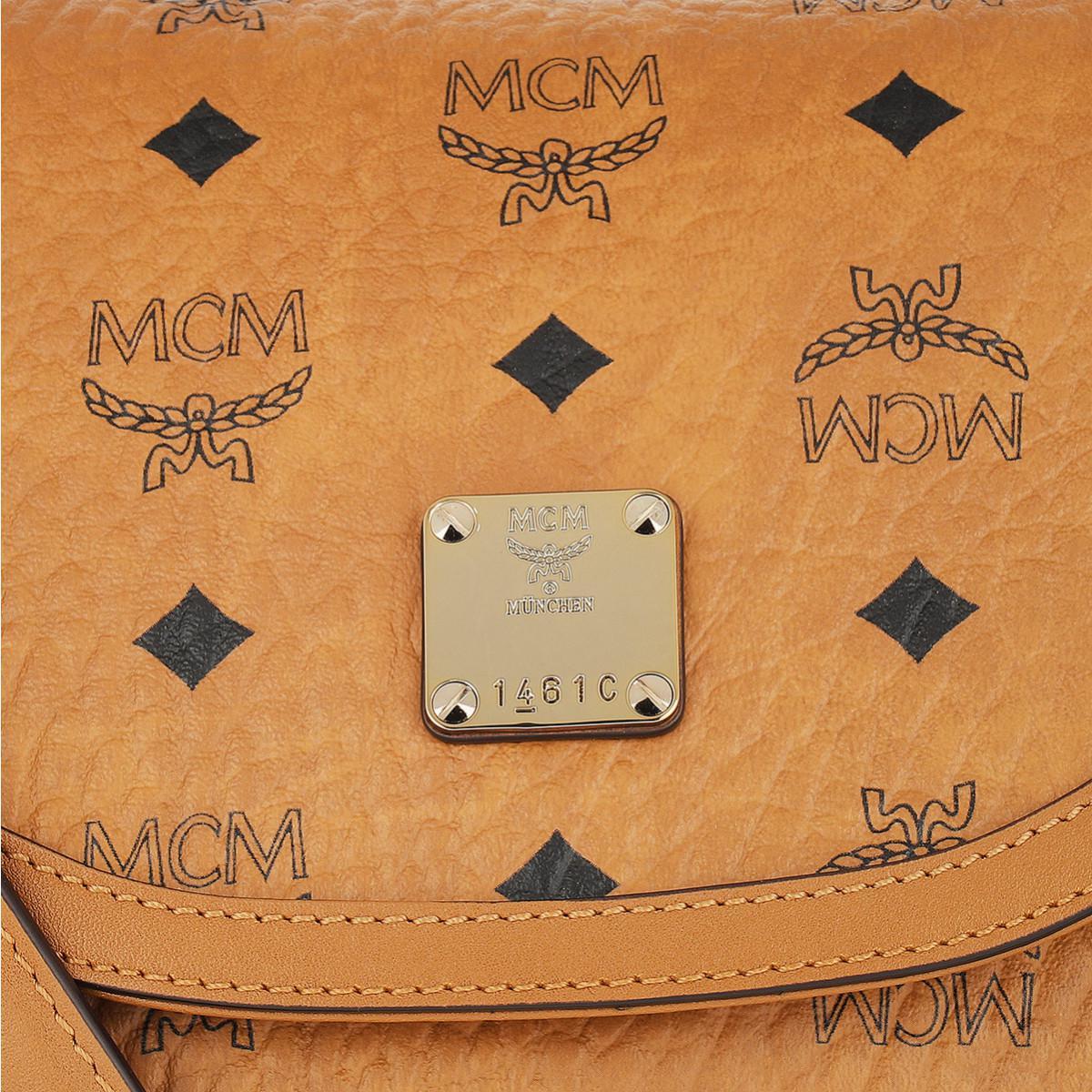 MCM Essential Visetos Crossbody Small Cognac in Brown