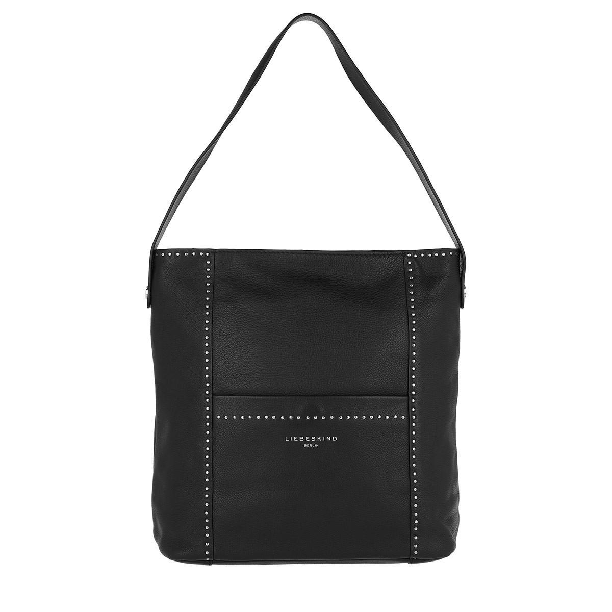 dd81647e0bc8 Liebeskind Berlin - Vintage Stud Love Hobo Bag Medium Black - Lyst. View  fullscreen