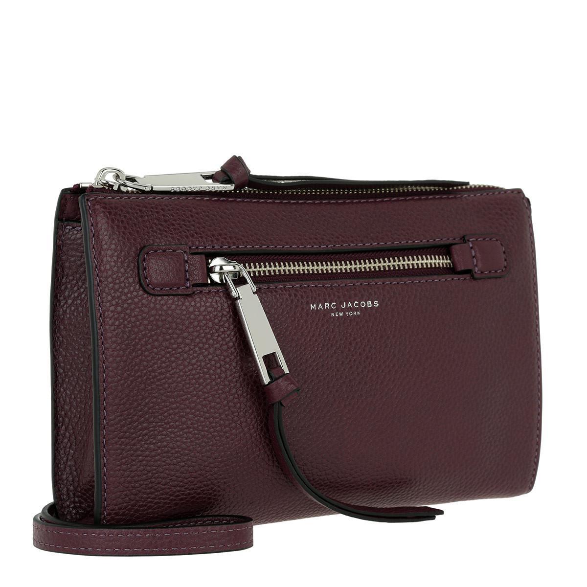 Marc Jacobs Leather Recruit Small Crossbody Bag Blackberry
