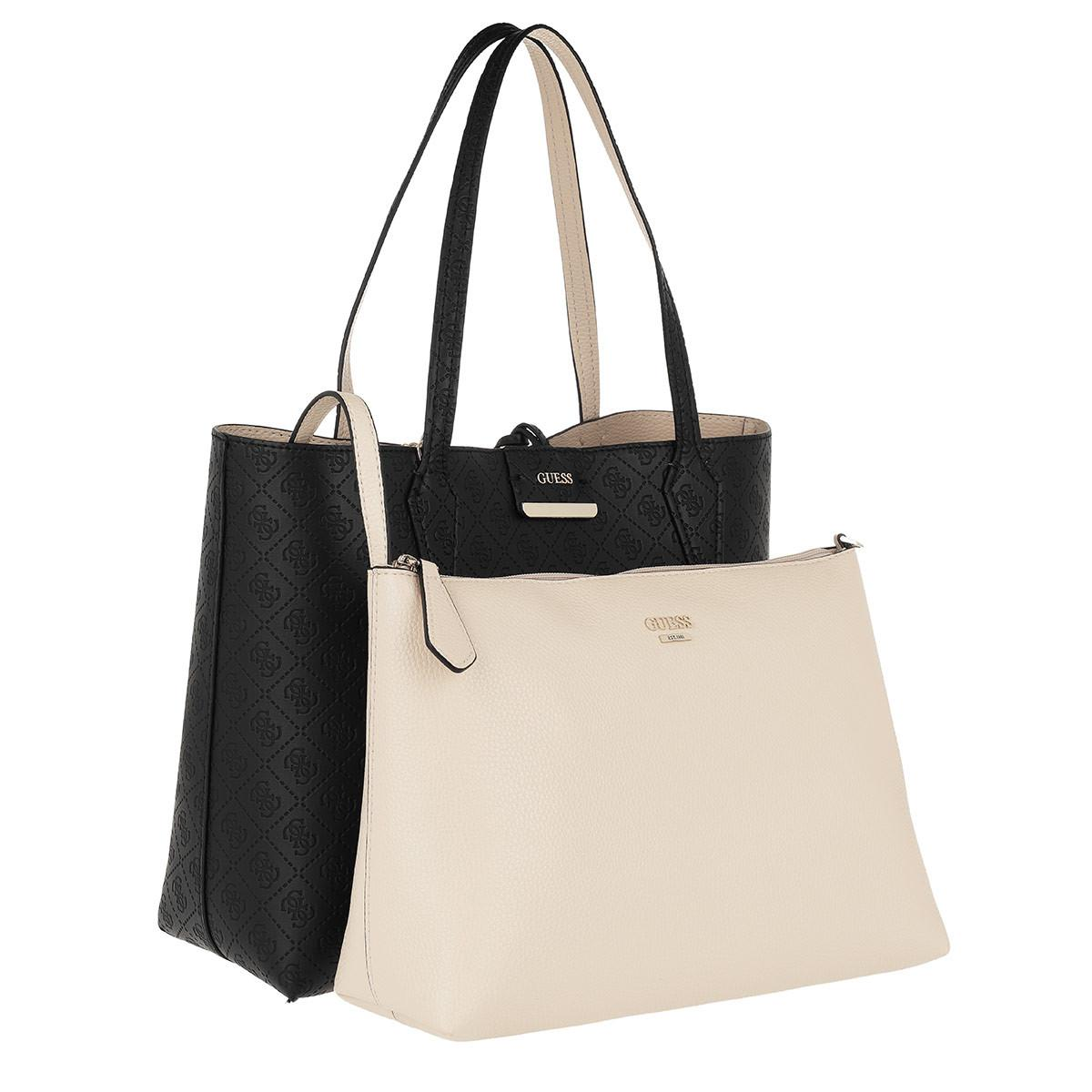 Guess Bobbi Inside Out Tote Black/nude