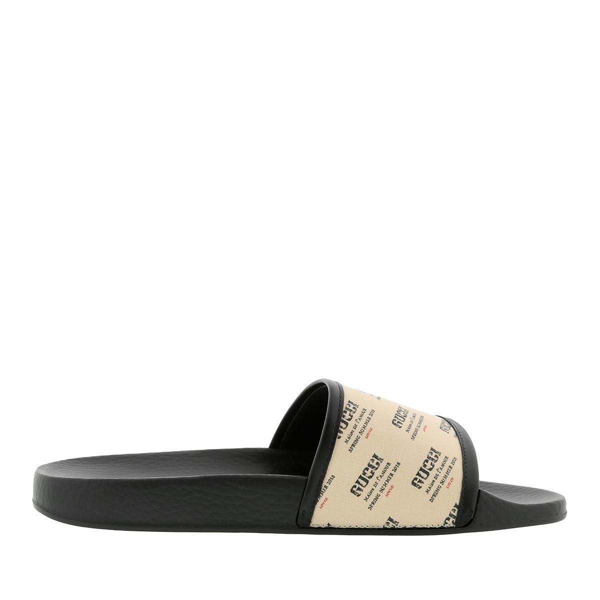 73badacf8eb Gucci - GG Supreme Slide Sandals White black - Lyst. View fullscreen