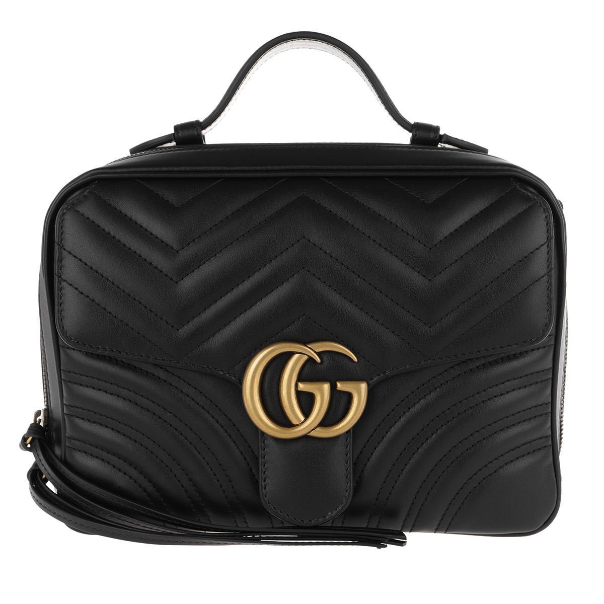 6a8aaf8c3b Gucci GG Marmont 2.0 Shoulder Bag Nero in Black - Lyst
