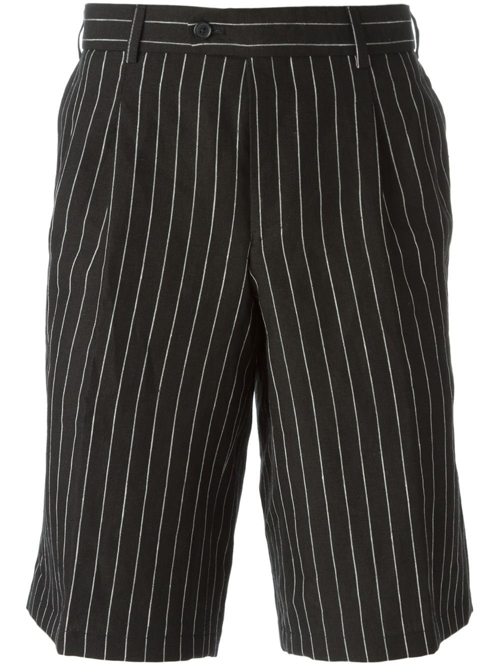 Casely-Hayford Pinstripe Tailored Shorts In Black For Men -1026