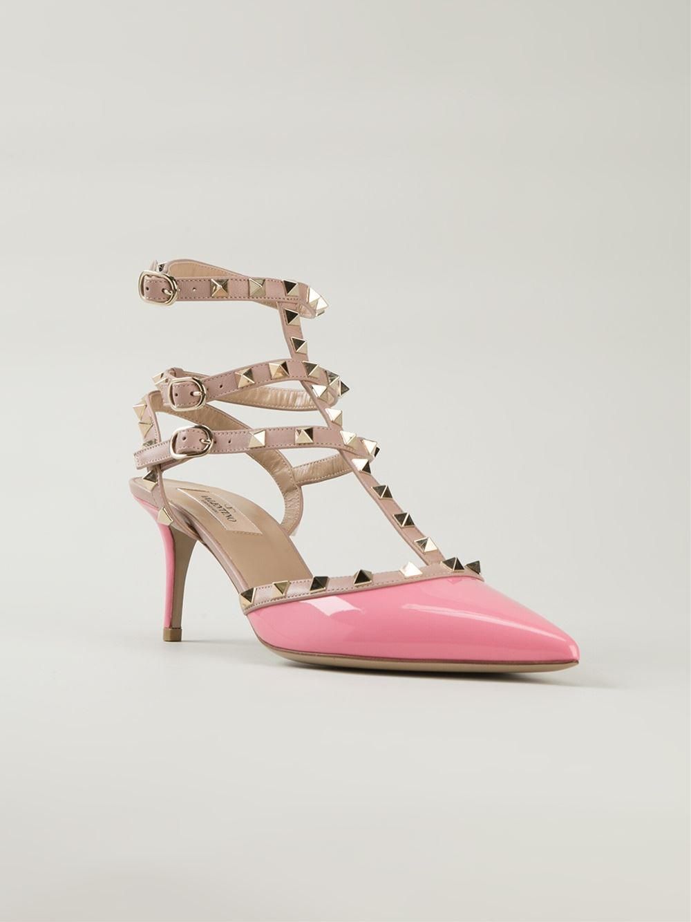 valentino garavani rockstud pumps in pink lyst