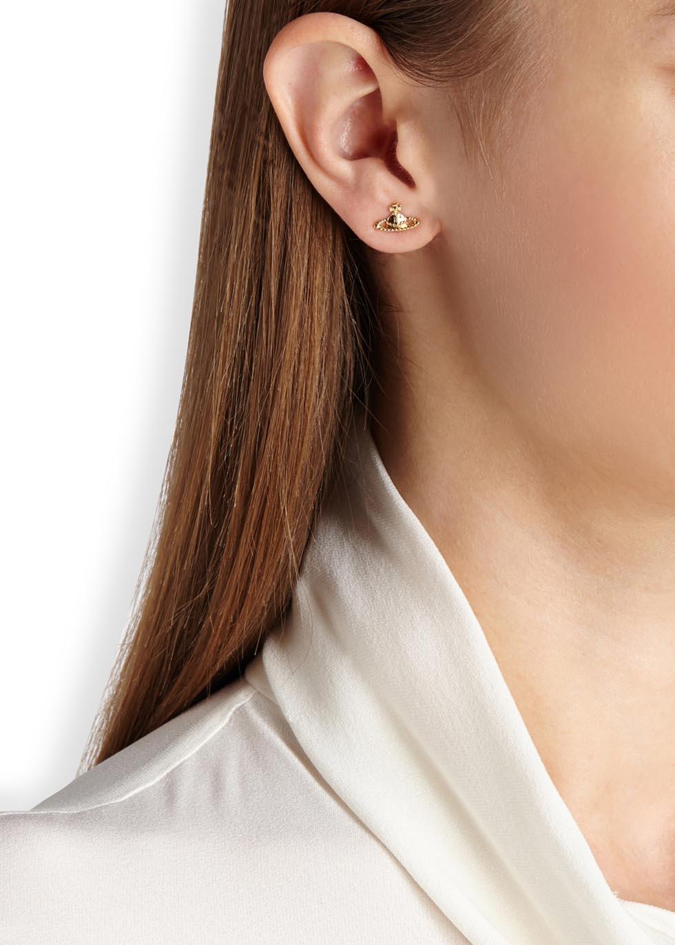 Vivienne Westwood Metallic Farah Gold Tone Orb Earrings
