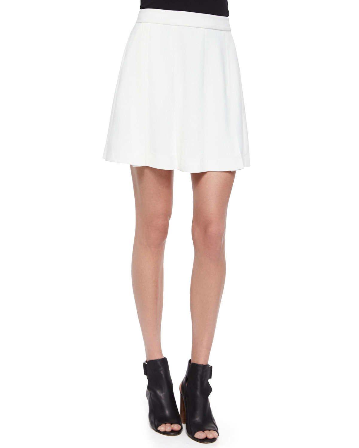 vince pleated a line skirt in white lyst